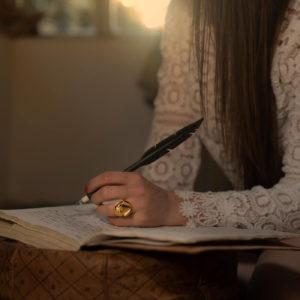 woman wearing atteza rana ring